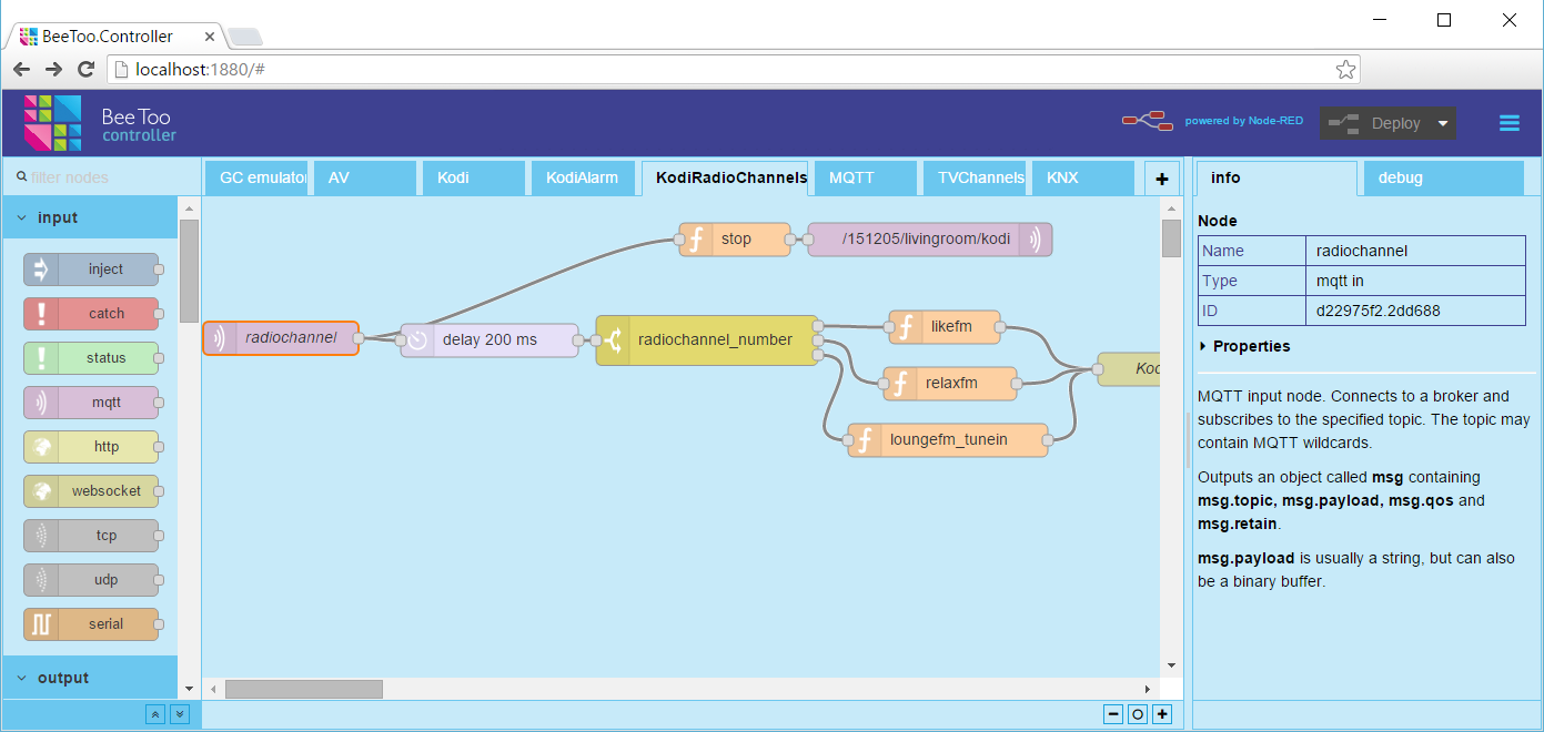 BeToo Controller: A visual tool for programming professional automation projects